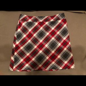 LOFT plaid wool skirt